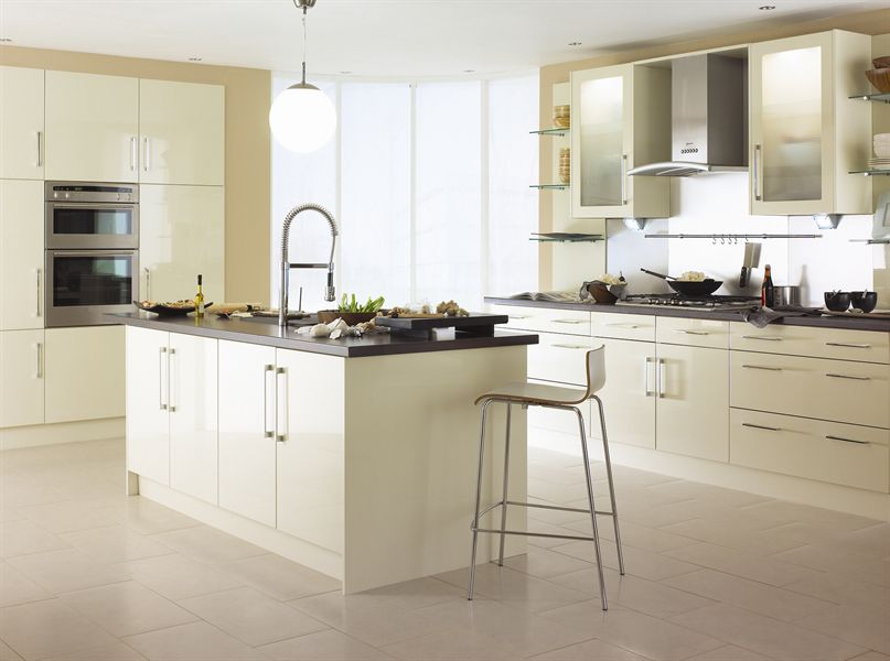 Logica Gloss Stone Kitchen
