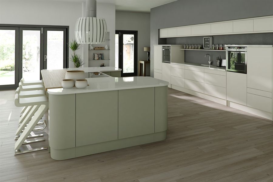 Setosa Ivory & Sage Grey Kitchen