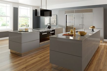 Mattonella Gloss Grey Kitchen