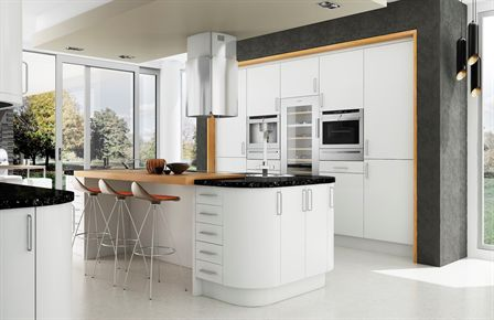 Satin White Kitchen