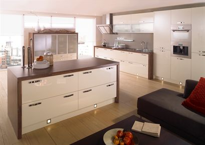 Mattonella Gloss Ivory Kitchen
