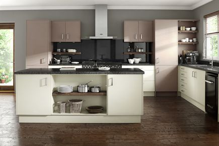 Rigid Embossed Ivory & Truffle Kitchen