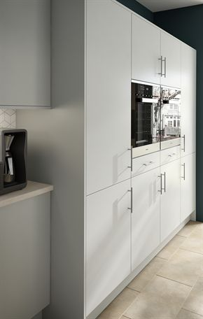 Rigid Plain Colour MFC Light Grey Kitchen