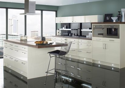 Logica Gloss Ivory Kitchen