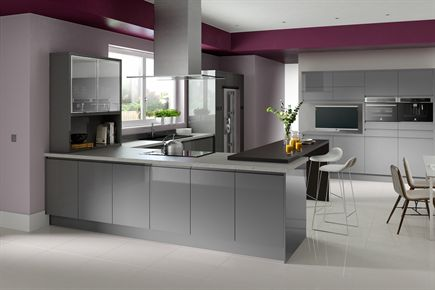 Fusion Gloss Grey Kitchen