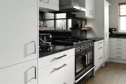 Rigid Embossed White Kitchen
