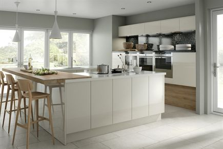 Rigid Gloss Ivory MFC Kitchen
