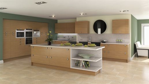 Contemporary Lissa Oak Kitchen