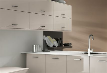 Rigid Gloss MFC Cashmere Kitchen