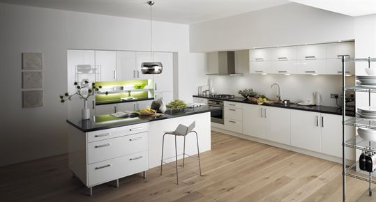 Logica Gloss White Kitchen