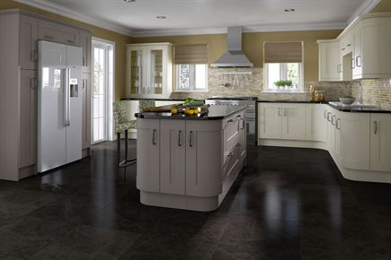Classic Painted Ivory & Taupe Kitchen