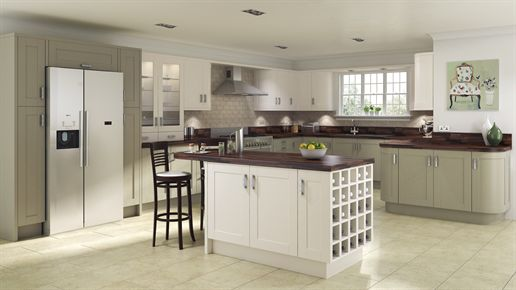 Shaker Painted Sage Grey Kitchen