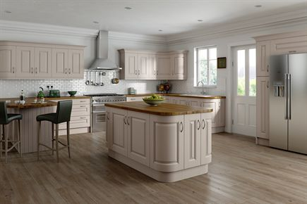 Heritage Painted Taupe Kitchen
