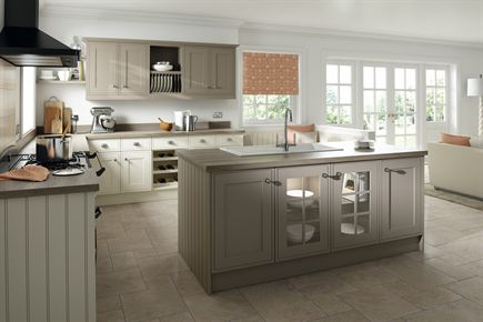 Davenport Painted Ivory & Hickory Kitchen