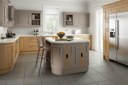 Country Lissa Oak & Painted Hickory Kitchen