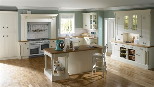 Wood Framed Ivory Kitchen
