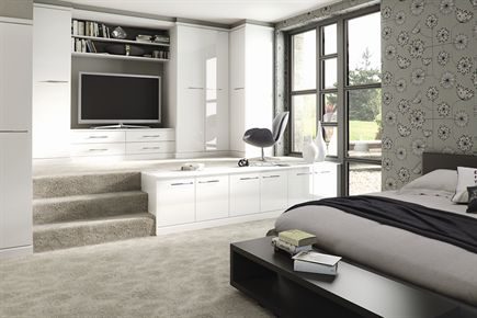 Image Gloss White Bedroom