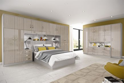 Melford Gloss Elm Bedroom