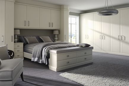 Virginia Smooth White Bedroom