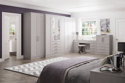 Pendle Storm Grey Bedroom